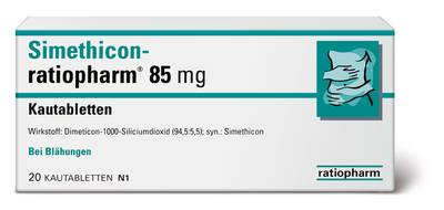 SIMETHICON-ratiopharm 85 mg Kautabletten