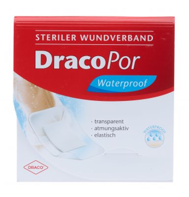 DRACOPOR waterproof Wundverband 5x7,2 cm steril