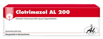 CLOTRIMAZOL AL 200 Vaginaltabletten