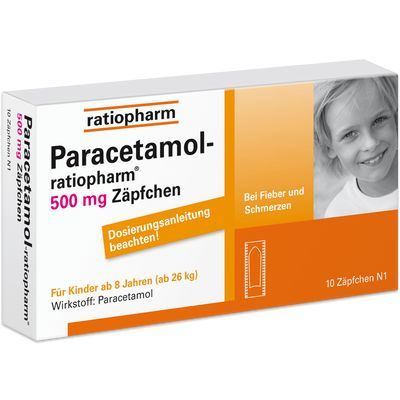 PARACETAMOL ratiopharm 500 mg Kindersuppositorien