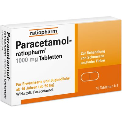 PARACETAMOL ratiopharm 1.000 mg Tabletten